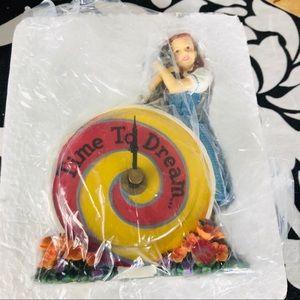 Wizard of Oz Dorothy Clock Enesco 2000